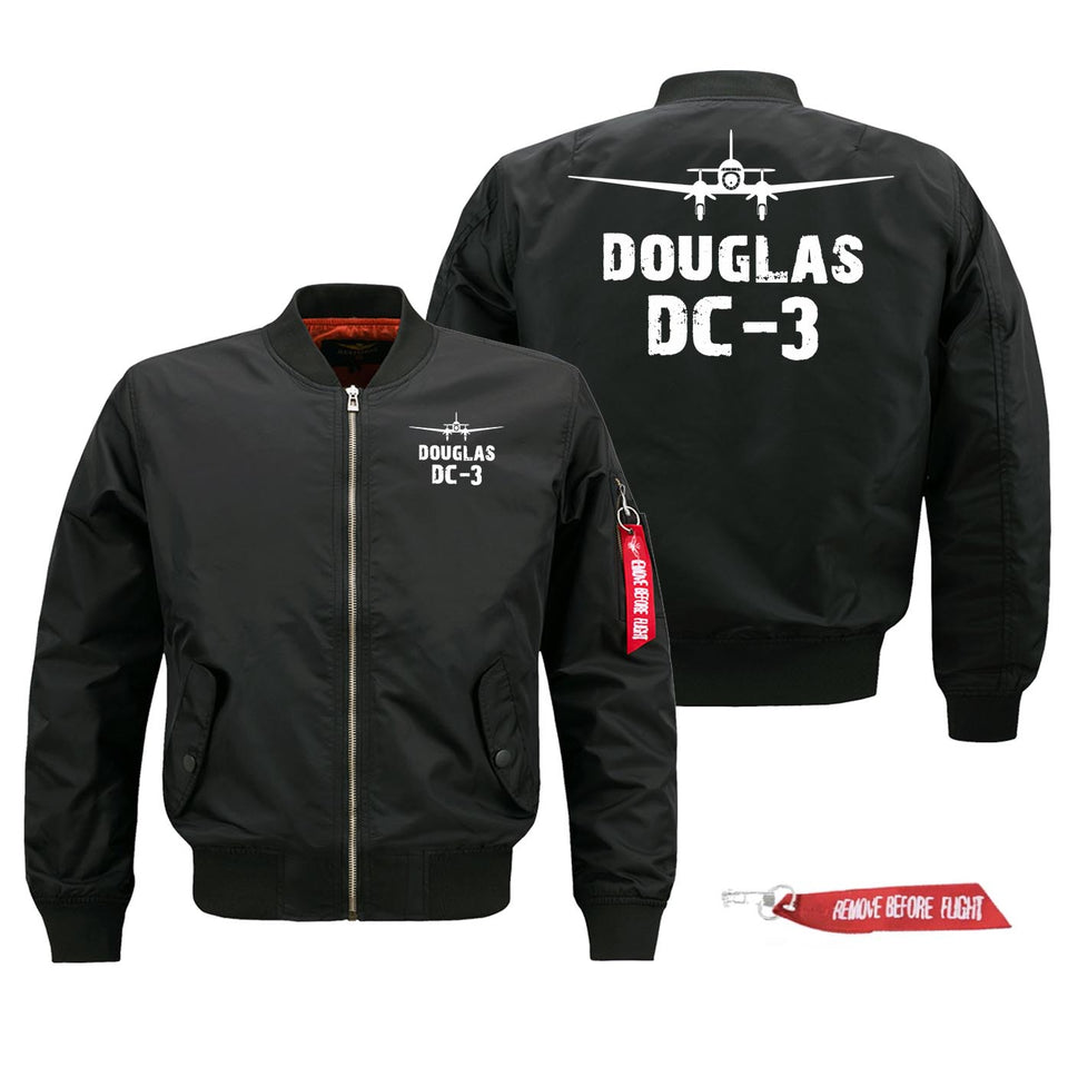 Douglas DC-3 Silhouette & Designed Pilot Jackets (Customizable)
