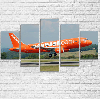EasyJet's 200th Aircraft Printed Multiple Canvas Poster
