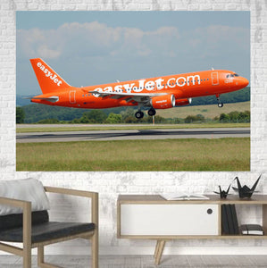 EasyJet's 200th Aircraft Printed Canvas Posters (1 Piece) Aviation Shop