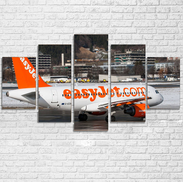 Easyjet's A320 Printed Multiple Canvas Poster