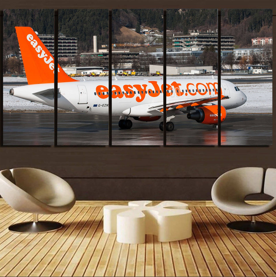 Easyjet's A320 Printed Canvas Prints (5 Pieces) Aviation Shop