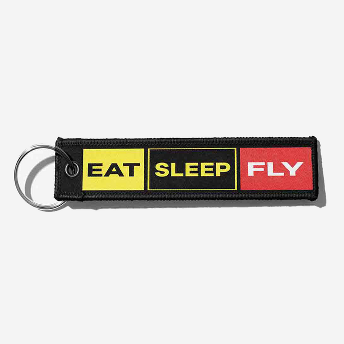 Eat Sleep Fly (Colourful) Designed Key Chains