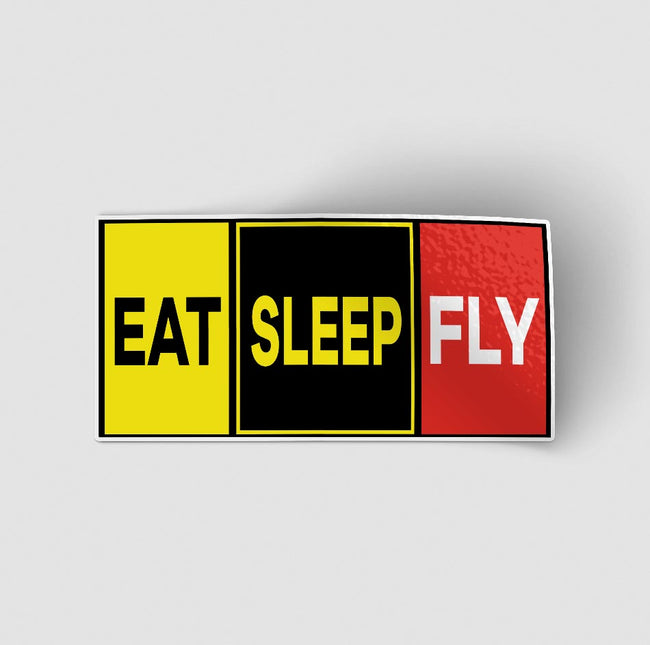 Eat Sleep Fly (Colourful) Designed Stickers