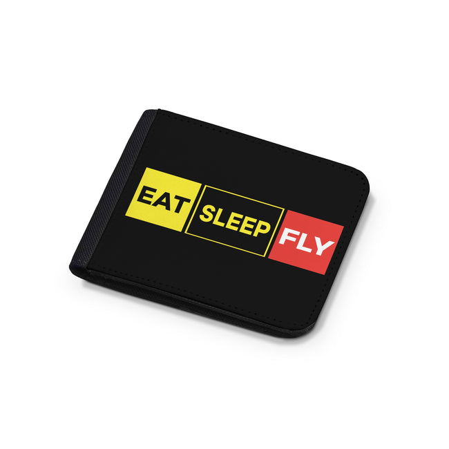 Eat Sleep Fly (Colourful) Designed Wallets