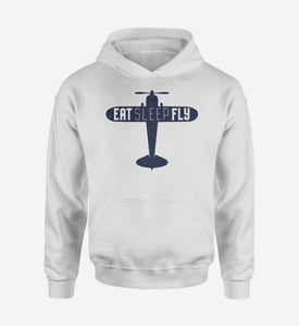 Eat Sleep Fly & Propeller Designed Hoodies