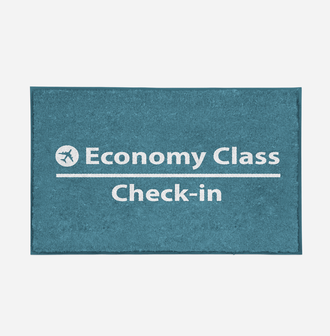 Economy Class - Check In Designed Door Mats Aviation Shop