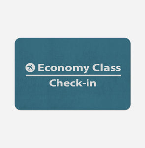 Economy Class - Check In Designed Bath Mats Pilot Eyes Store Floor Mat 50x80cm