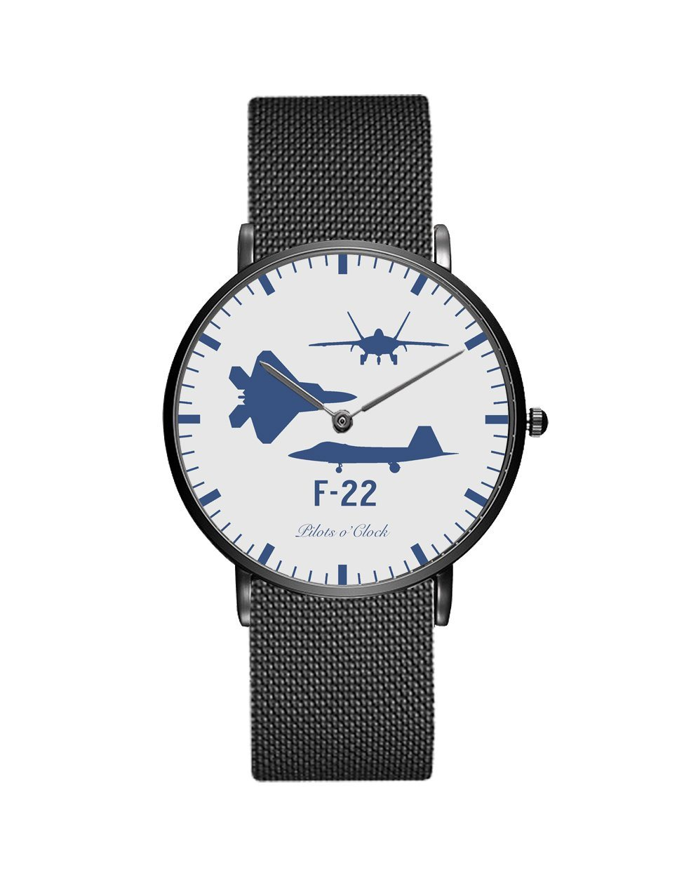 F22 Raptor (Special) Stainless Steel Strap Watches Pilot Eyes Store Black & Stainless Steel Strap