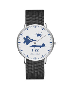 F22 Raptor (Special) Stainless Steel Strap Watches Pilot Eyes Store Silver & Black Stainless Steel Strap