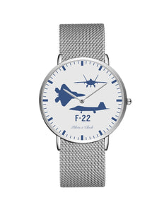 F22 Raptor (Special) Stainless Steel Strap Watches Pilot Eyes Store Silver & Silver Stainless Steel Strap