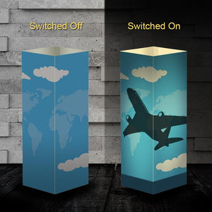 Aircraft 3 Silhouette & 3D Shadow Lamp Aviation Shop