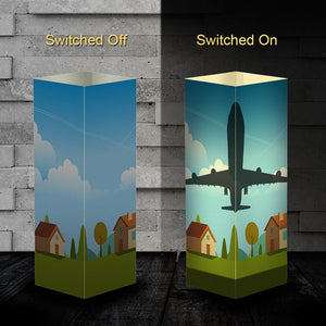 Aircraft 2 Silhouette & 3D Shadow Lamp Aviation Shop