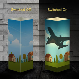 Aircraft 1 Silhouette & 3D Shadow Lamp Aviation Shop