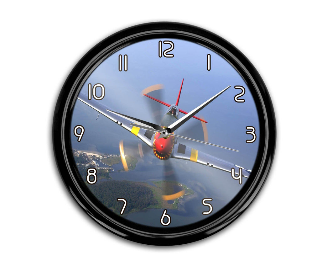 Face to Face Amazing Propeller Printed Wall Clocks Aviation Shop