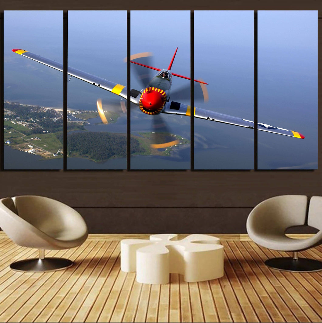 Face to Face Amazing Propeller Printed Canvas Prints (5 Pieces) Aviation Shop