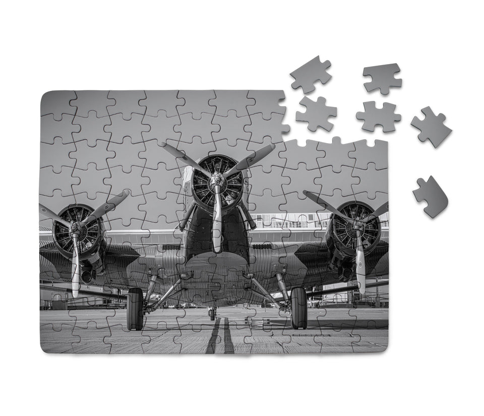 Face to Face to 3 Engine Old Airplane Printed Puzzles Aviation Shop