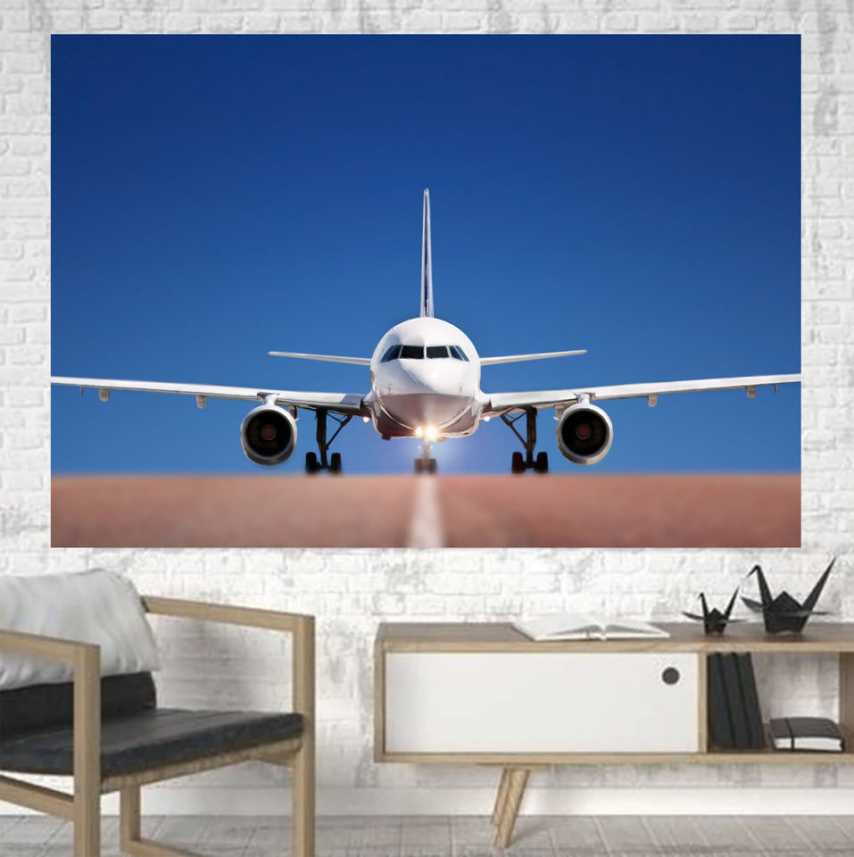 Face to Face with Airbus A320 Printed Canvas Posters (1 Piece) Aviation Shop
