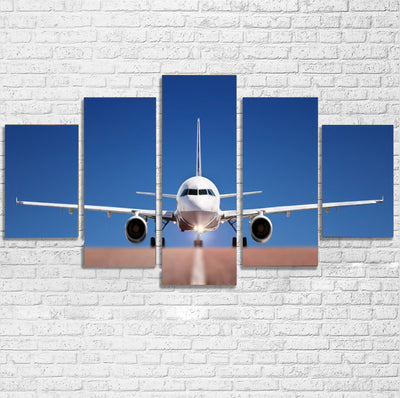 Face to Face with Airbus A320 Printed Multiple Canvas Poster