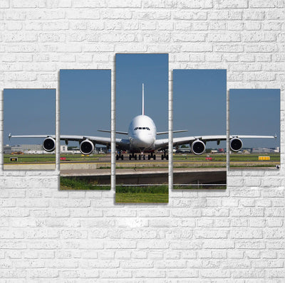 Face to Face with Airbus A380 Printed Multiple Canvas Poster