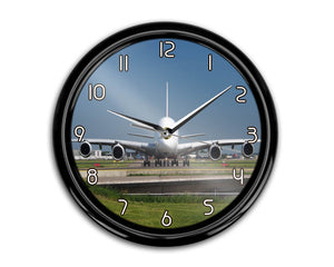 Face to Face with Airbus A380 Printed Wall Clocks Aviation Shop