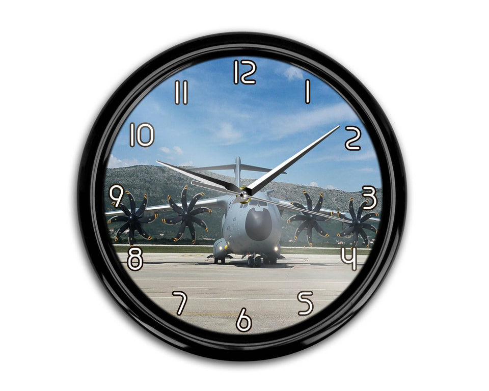 Face to Face with Airbus A400M Printed Wall Clocks Aviation Shop