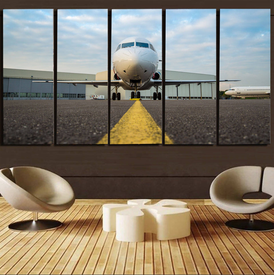 Face to Face with Beautiful Jet Printed Canvas Prints (5 Pieces) Aviation Shop