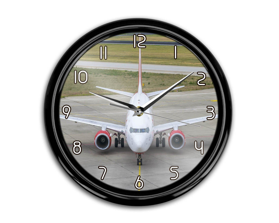 Face to Face with Boeing 737 Printed Wall Clocks Aviation Shop