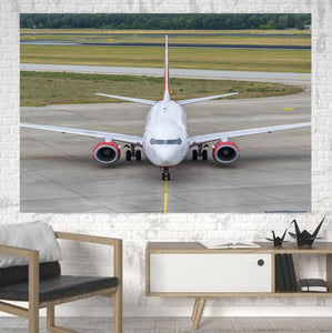 Face to Face with Boeing 737 Printed Canvas Posters (1 Piece) Aviation Shop