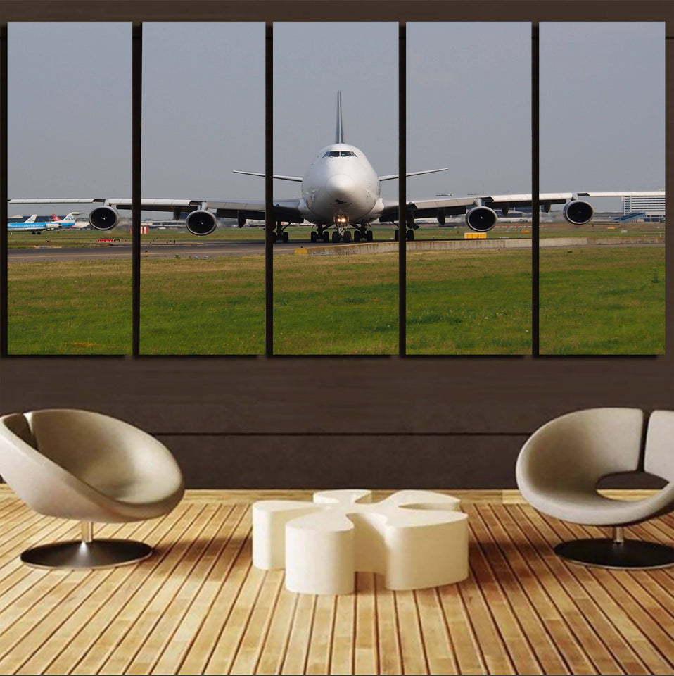 Face to Face with Boeing 747 Printed Canvas Prints (5 Pieces) Aviation Shop