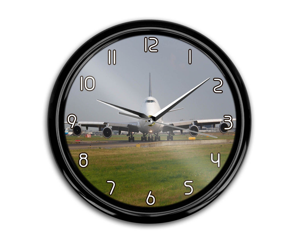 Face to Face with Boeing 747 Printed Wall Clocks Aviation Shop