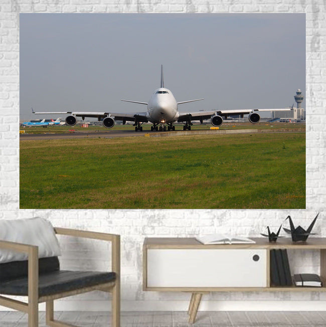 Face to Face with Boeing 747 Printed Canvas Posters (1 Piece) Aviation Shop