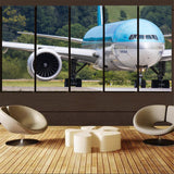 Face to Face with Korean Airlines Boeing 777 Printed Canvas Prints (5 Pieces) Aviation Shop