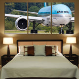 Face to Face with Korean Airlines Boeing 777 Printed Canvas Posters (3 Pieces) Aviation Shop