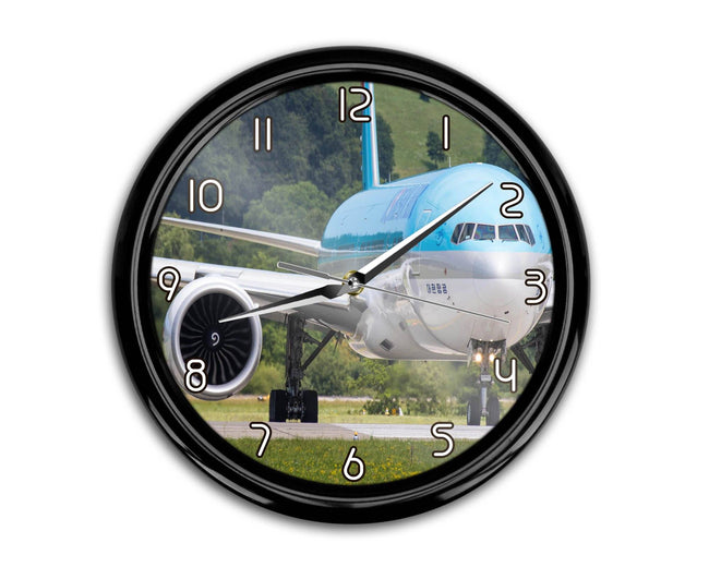 Face to Face with Korean Airlines Boeing 777 Printed Wall Clocks Aviation Shop