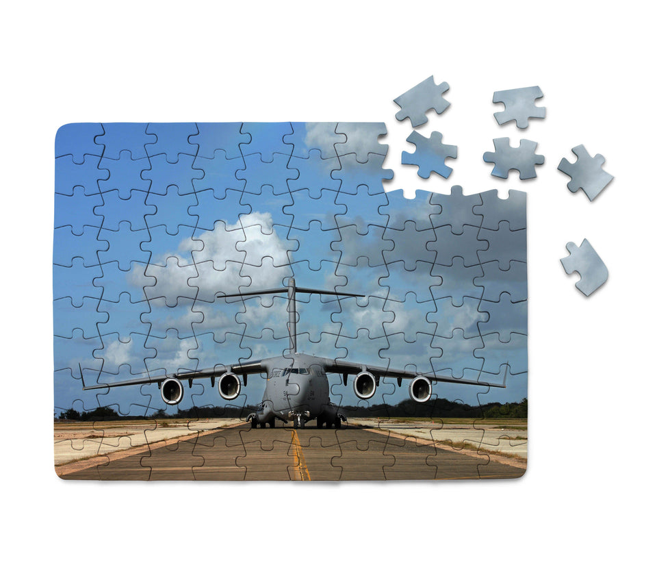 Face to Face with Military Cargo Airplane Printed Puzzles Aviation Shop
