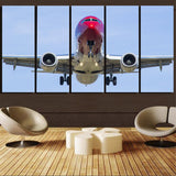 Face to Face with Norwegian Boeing 737 Printed Canvas Prints (5 Pieces) Aviation Shop