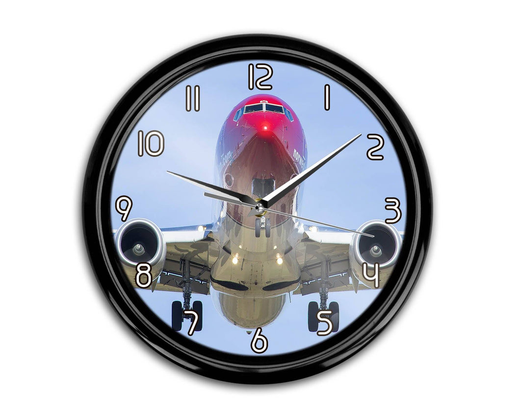 Face to Face with Norwegian Boeing 737 Printed Wall Clocks Aviation Shop