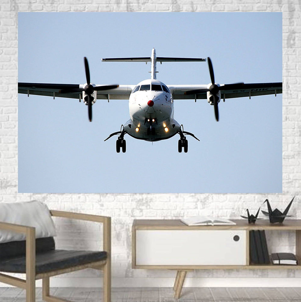 Face to Face with an ATR Printed Canvas Posters (1 Piece) Aviation Shop