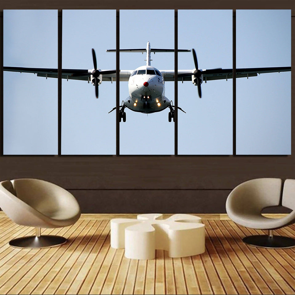 Face to Face with an ATR Printed Canvas Prints (5 Pieces) Aviation Shop