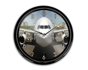 Face to Face with an Huge Airbus Printed Wall Clocks Aviation Shop