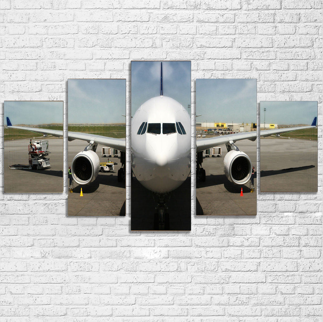 Face to Face with an Huge Airbus Printed Multiple Canvas Poster Aviation Shop