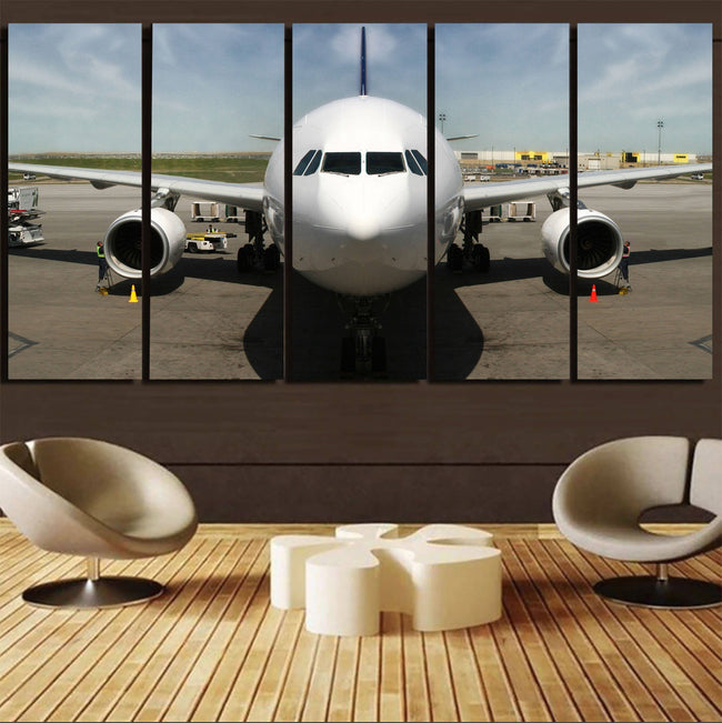 Face to Face with an Huge Airbus Printed Canvas Prints (5 Pieces) Aviation Shop