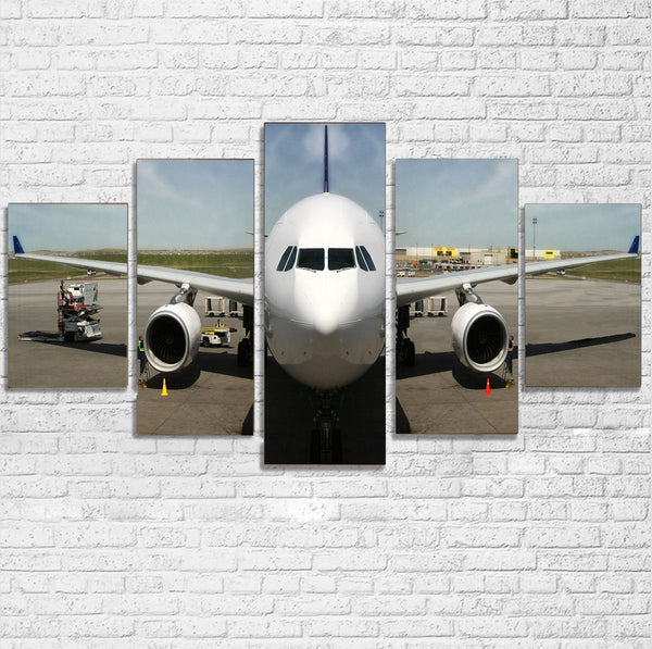 Face to Face with an Huge Airbus Printed Multiple Canvas Poster