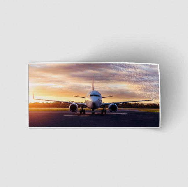 Face to Face with Boeing 737-800 During Sunset Designed Stickers