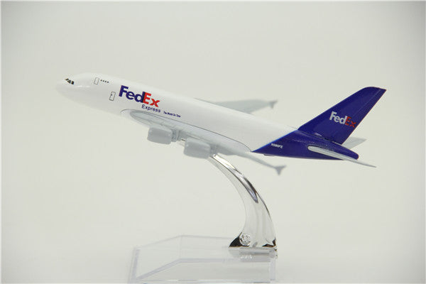 FedEx Airbus A380 Airplane Model (16CM)