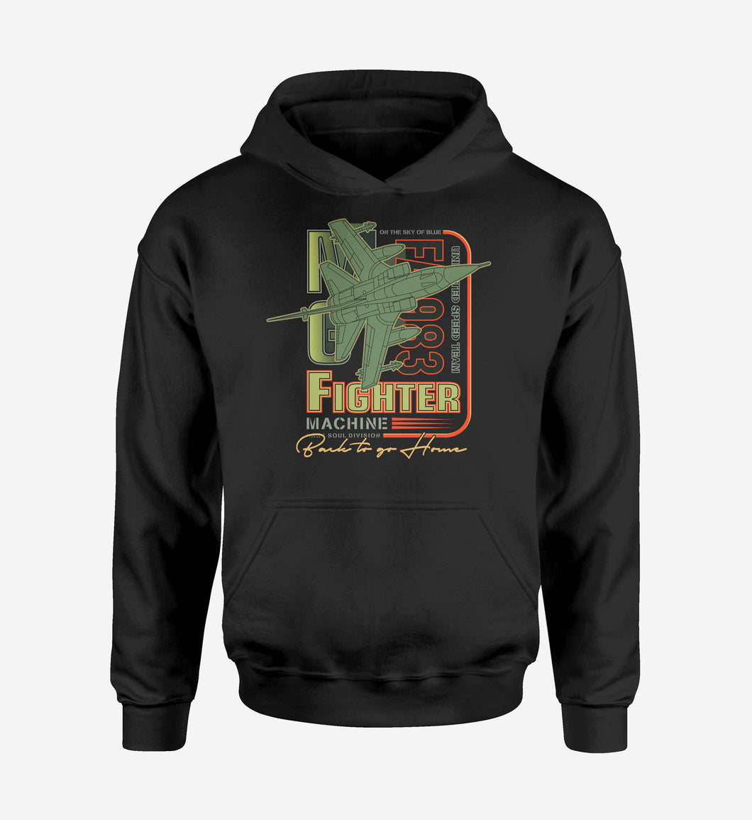 Fighter Machine Designed Hoodies