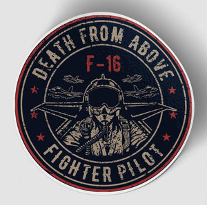 Fighting Falcon F16 - Death From Above Designed Stickers