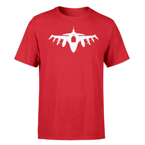 Fighting Falcon F16 Silhouette Designed T-Shirts
