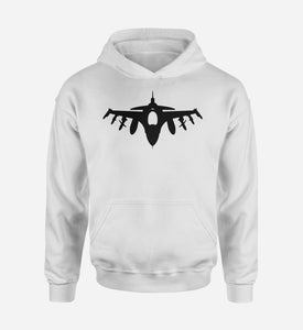 Fighting Falcon F16 Silhouette Designed Hoodies