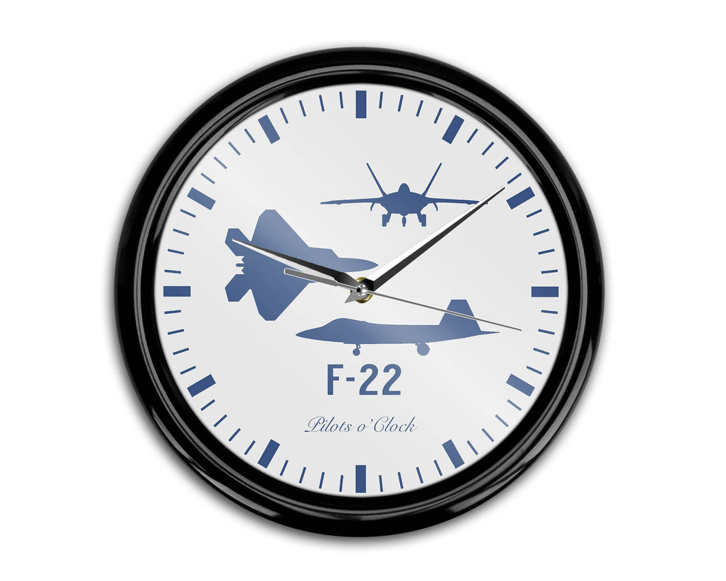 Fighting Falcon F-22 (Special) Printed Wall Clocks Aviation Shop